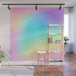 Pastel Rainbow Gradient With Stained Glass Effect Wall Mural