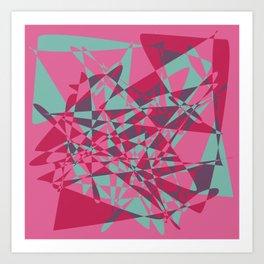 Broken mirror 2 - Geometric Abstract Art Print