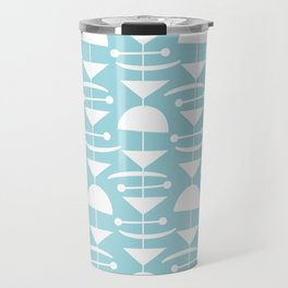 Retro Mid Century Modern Abstract Mobile 676 Blue Travel Mug