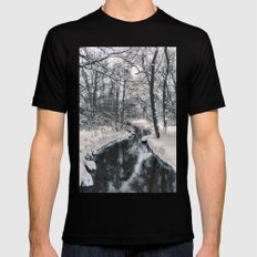 Almost frozen (3\4-BW, HDR) Mens Fitted Tee Black MEDIUM
