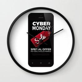 Cyber Monday Sale Wall Clock