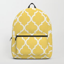 Classic Quatrefoil Lattice Pattern 731 Yellow Backpack