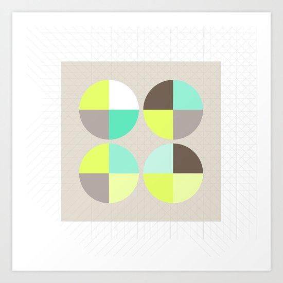 Quarter Circles 1 Art Print