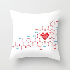 The chemistry of love Throw Pillow