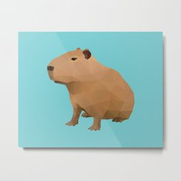 Capybara Polygon Art Metal Print