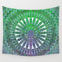 Spring Mandala Wheel Wall Tapestry