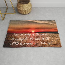 Bible Scripture Psalm 113:3 Rug