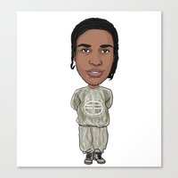 asap rocky Canvas Prints featuring Asap by Allyouwant