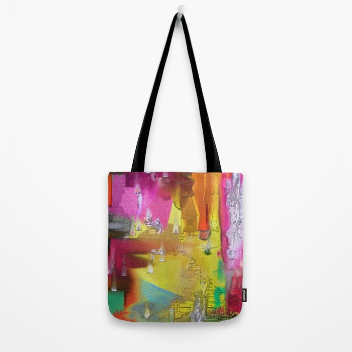 Tables Are Ready Abstract Design Tote Bag