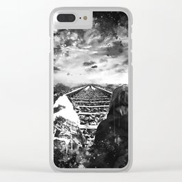 wanderlust wsbw Clear iPhone Case