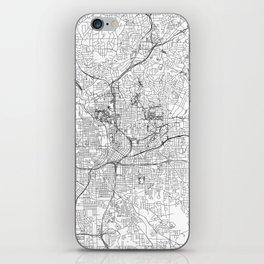 Atlanta White Map iPhone Skin