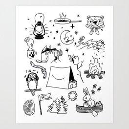 Animals Youth at Summer Camp Art Print