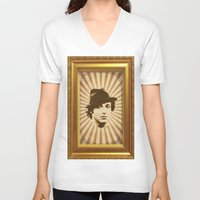 rocky V-neck T-shirts featuring Rocky by Durro