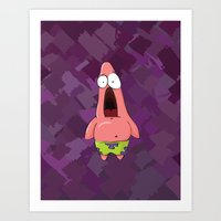 patrick Art Prints featuring patrick by MartinsNM