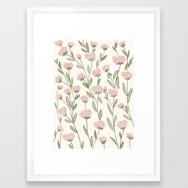 Rose Garden Pattern Framed Art Print