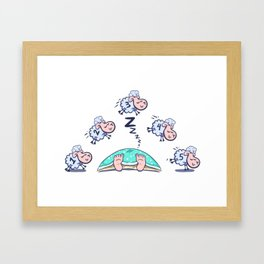 Counting Sheep to go to Sleep Framed Art Print