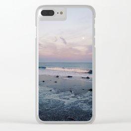 Santa Barbara, CA - Ocean Sunset Clear iPhone Case