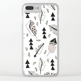 Cupid indian summer feathers and arrows Clear iPhone Case