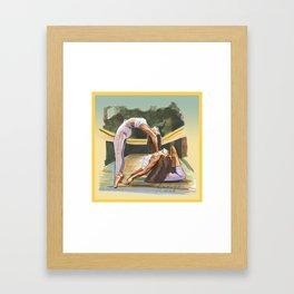 Yoga Figures Framed Art Print