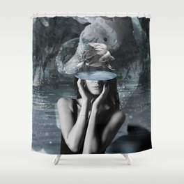 Fish Head Shower Curtain