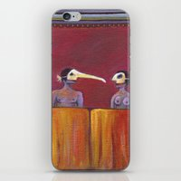 theater iPhone & iPod Skins featuring Theater masks by Bunny Noir
