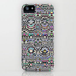 Bohemian colorful pattern, festyval style iPhone Case