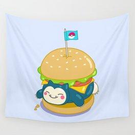 Snorlax Burger Wall Tapestry