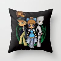 oz Throw Pillows featuring Oz  by Mickey Spectrum