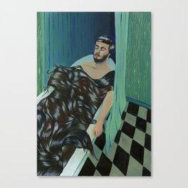 TODAY I FELL ASLEEP IN A BATH OR HAIR  Canvas Print