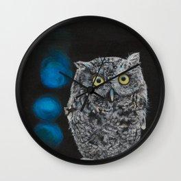 Tuula the Screech Owl by Teresa Thompson Wall Clock
