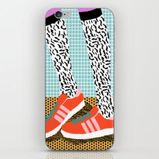 Spiffy - shoes art print memphis design style modern colorful california socal los angeles brooklyn  iPhone Skin