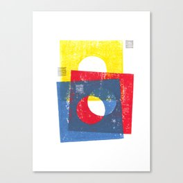 Basic in red, yellow and blue Canvas Print