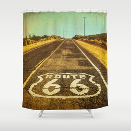 Route 66 Road Marker Shower Curtain