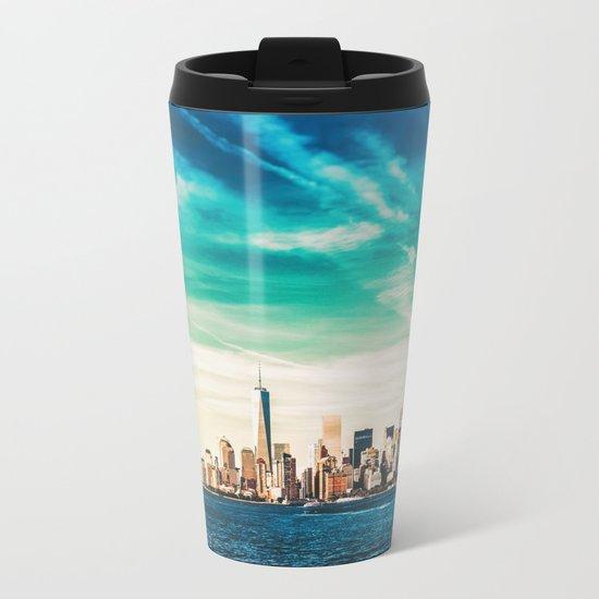 NYC Skyline Metal Travel Mug