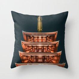 History and Symmetry - Senso-ji Five-story Pagoda Throw Pillow