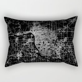 Tulsa map Oklahoma Rectangular Pillow