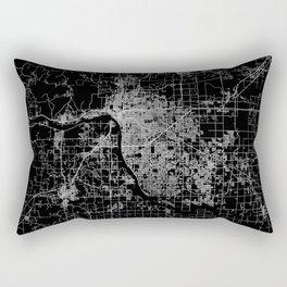 Tulsa map Oklahoma Rectangular Pillow