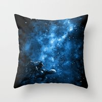 discworld Throw Pillows featuring Cosmic Turtle by Crumblin' Cookie