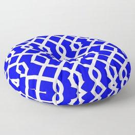 Grille No. 3 -- Blue Floor Pillow