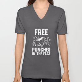 Free Punches In The Face Unisex V-Neck