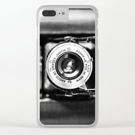 Vintage Folding Camera Clear iPhone Case