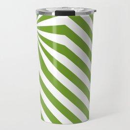 Stripes explosion - Green Travel Mug