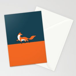 Fox walk Stationery Cards