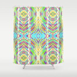 Light Dance Ripple edit Shower Curtain