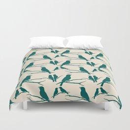 Rustic Green Bird Duvet Cover