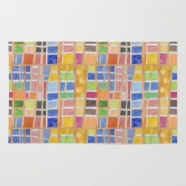 Rectangle Pattern With Sticks Rug
