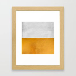 Wabi Sabi - Gold and Grey Texture Framed Art Print