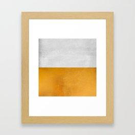 Wabi Sabi - Gold and Grey Texture Framed Art Print