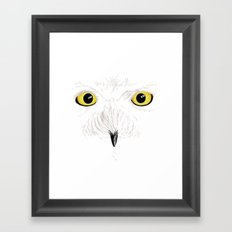 Peer into the Light – Snowy Owl Framed Art Print