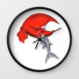 Great White Lobstah Lovah Wall Clock